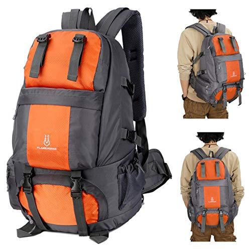 Huien 50L outdoor rugzak camping klimtas waterdicht bergbeklimmen wandelen rugzakken sporttas klimrugzak, oranje