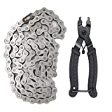 415H 110L Motorized Bicycle Chain+Chain Breaker,Compatible with For 49cc 60cc 66cc 80cc 2-Stroke Engine Motor Bike Heavy Duty Chain High Power Racing Parts
