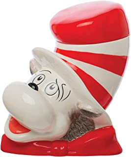 Vandor Dr. Seuss The Cat in The Hat Sculpted Ceramic Cookie Jar