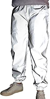 silver reflective joggers