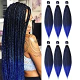 BETHANY 24 Inches 6 packs Pre-stretched Braiding Hair Professional...