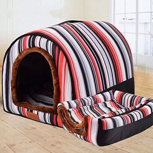 KTUCN Haustier Hundehütte, voll waschbare Haustierhütte, Zylinder tragbare Hundehütte, Haustier Katze Hundebett Hundekäfig4L