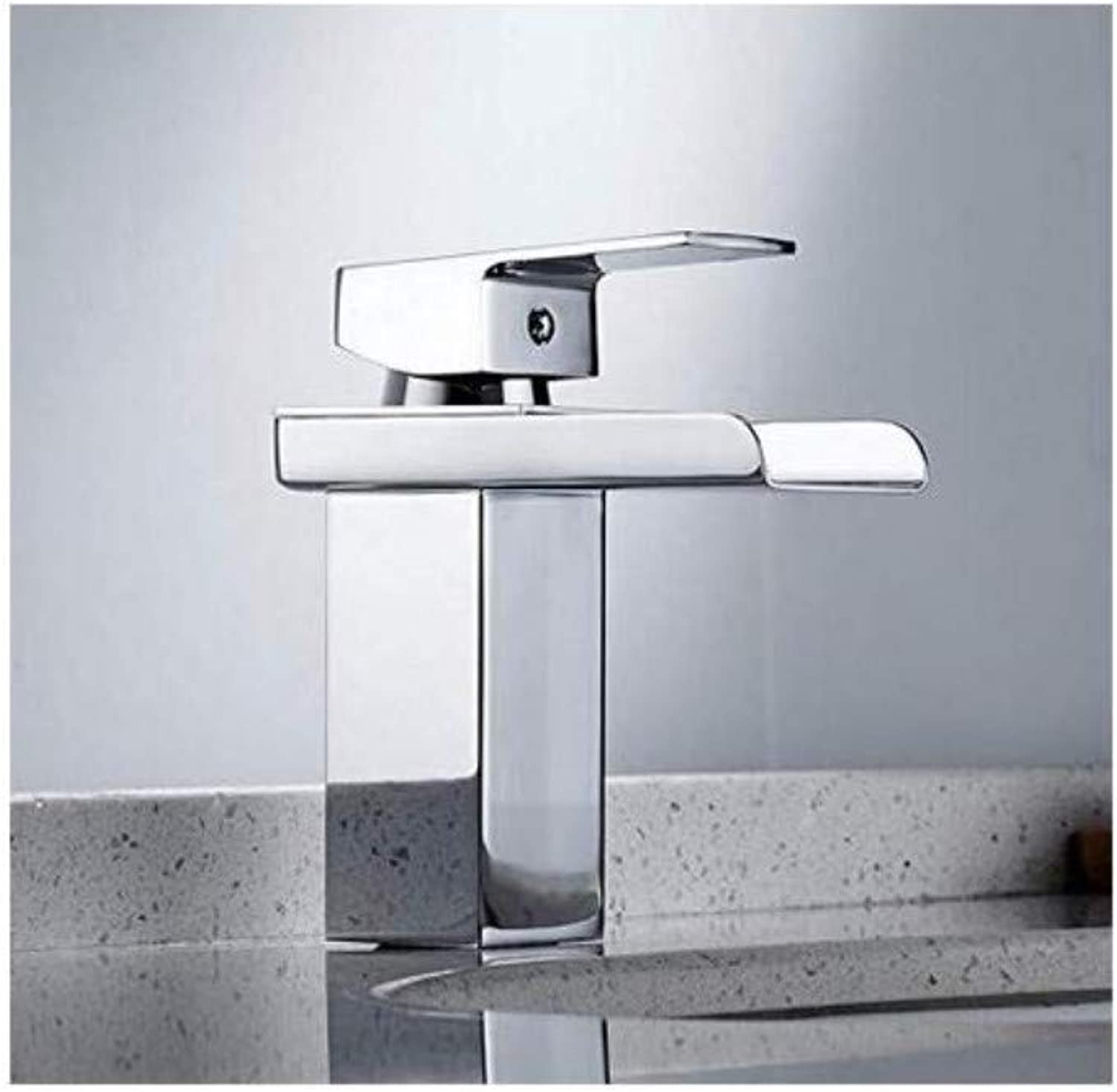 Retro Faucet Steel Aterfall Bathroom Chrome Sink Hot Cold Mixers Taps Deck Mounted Single Hole Classic