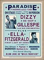 ポスター デニース ローレン Dizzy Gillespie and Ella Fitzgerald at Paradise 1947 額装品 ウッドベーシックフレーム(オフホワイト)