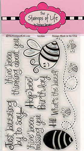 Honey Bee Sentiment Stamps for Card-Making and Scrapbooking Supplies by The Stamps of Life - Bee4Me