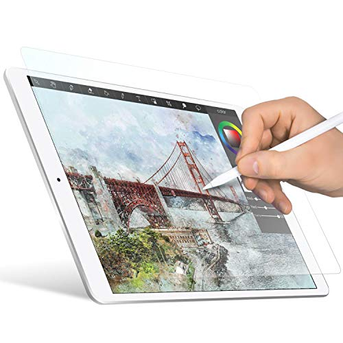 ELECOM-Japan Brand- Paper-Feel Screen Protector Compatible with 10.5 inch iPad/iPad Air(2019), iPad Pro(2017) / Drawing, Anti Glare, Scratch Resistant/Smooth Type/TB-A19PS105-W