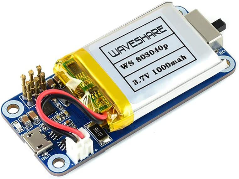 UPS HAT (C) for Raspberry Pi Zero Series, Stable 5V Uninterruptible Power Supply, Multi Battery Protection Circuits Real Time Monitoring