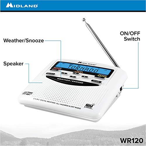 Product Image 5: Midland – WR120B/WR120EZ – NOAA Emergency Weather Alert Radio – S.A.M.E. Localized Programming, Trilingual Display, 60+ Emergency Alerts, & Alarm Clock (WR120B – Box Packaging)