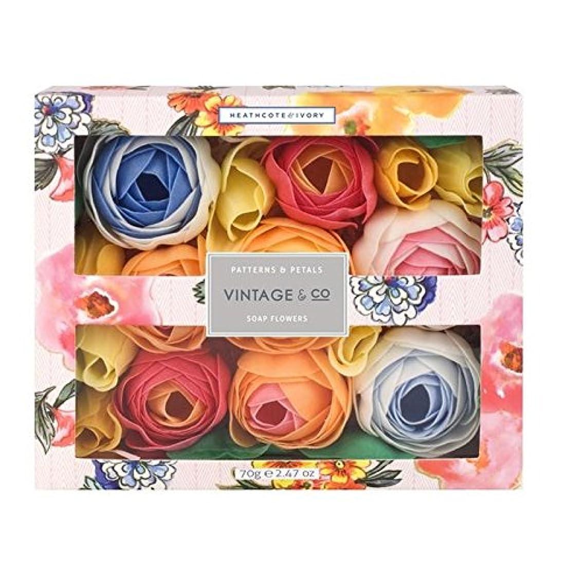 十分ステレオタイプ手荷物ヒースコート&アイボリーパターン&花びら石鹸の花70グラム x4 - Heathcote & Ivory Patterns & Petals Soap Flowers 70g (Pack of 4) [並行輸入品]