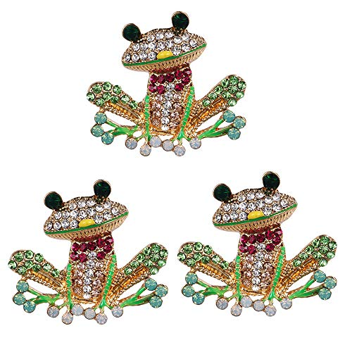 Broschennadel, süßes kleines Frosch-Muster, für Kleidung, Anzug, Tasche, Hut, 3 Stück