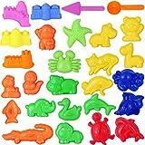 Toddmomy 27 Piezas de Arena de Playa Juguetes Cubo Herramientas de Arena Juego de Juguetes de Playa Moldes de Arena para Niños Pequeños Niños Y Niñas (Color Aleatorio)