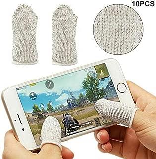Abeay 10Pcs Mobile Finger Sleeve Sensitive Game Controller Sweatproof Aim Keys for PUBG