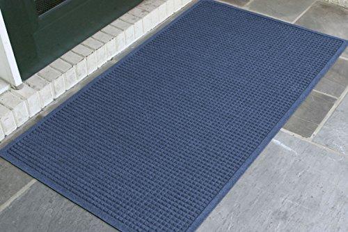 M+A Matting - 280610035 WaterHog Fashion Commercial-Grade Entrance Mat, Indoor/Outdoor Charcoal Floor Mat 5' Length x 3' Width, Navy by