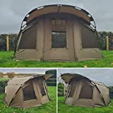 Quest MK3 Carp Fishing Bivvy Pram Hood 2 Man 1 Overnight Day Shelter Tent Brolly