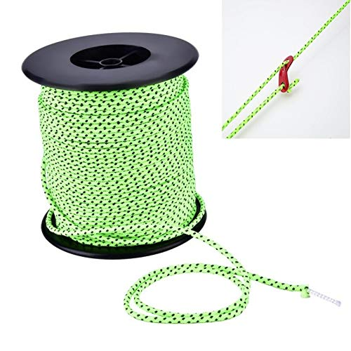 Tent floor screws 2.5mm Diameter Reflective String Windproof Tent Rope Line Camping Rope Reflective Tent Ropes, Length: 50m Asun
