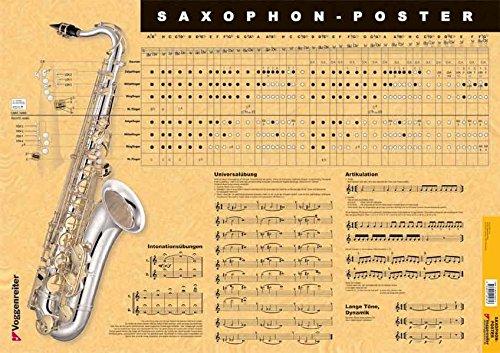 Saxophon-Poster: Alles was ein Saxophonist wissen muss als Poster!: Kompaktwissen für Saxophonisten!