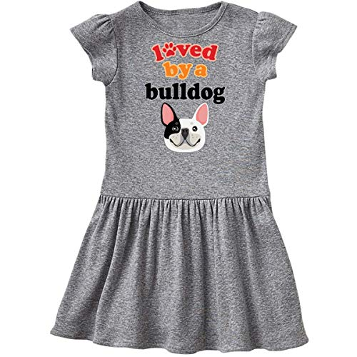 inktastic French Bulldog Gift Infant Dress 6 Months Heather Grey