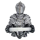 Knight Sculptural Toilet Tissue Holder - A Knight to Remember Gothic Bath Tissue Holder,Toilet Paper Resin Wall Storage,Cool Art Toilet Tissue Holder,Knight Toilet Paper Roll-Bathroom Wall Decor