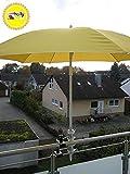 Balkon Halter für Schirmstöcke 25,5 bis 42 mm Ø - 2 Stück BALKON - Distanz SONNENSCHIRMHALTER für BALKONGELÄNDER für Außen oder Innen Befestigung mit 11+ 6 cm Abstands Schirmhalter -...