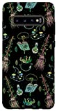 Galaxy S10+ Green Forest Witch Magical Herbs And Flowers Occult Case