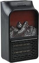 Mini eléctrico de toma de pared Calentador de llama, plug-in de aire más caliente de calefacción PTC de cerámica Estufa radiador Hogar Wall práctica Ventilador