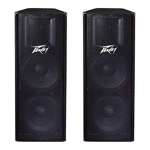 "Peavey PV215 2-Way 2800 Watt Dual 15"" PA Full Range DJ Speakers PV 215 (2 Pack)"