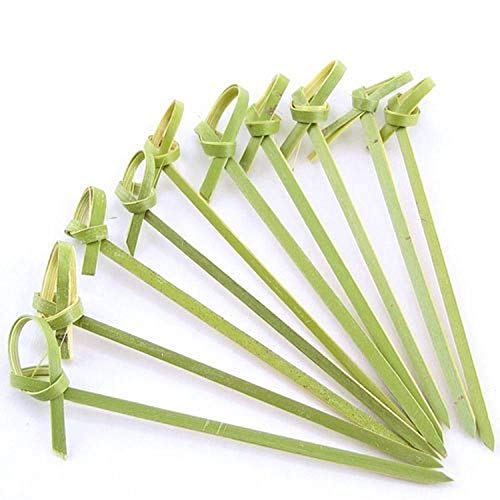 JapanBargain 300pcs Bamboo Cocktail Picks Skewer with Knotted Ends 6 inch