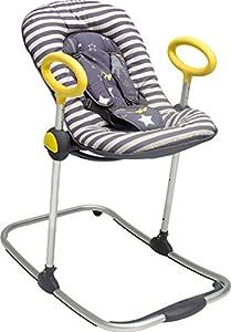 BÉABA Hamaca Bébé Up & Down I, Ajustable con una Simple Presión, 4 Alturas, 3 Inclinaciones, para Bebés y Niños, Reductor de Bebé, Ultracómoda, Balancín, Gris