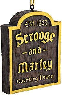 Tree Buddees A Christmas Carol Scrooge & Marley Counting House Sign Ornament