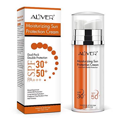 pas cher un bon Crème solaire visage SPF50 + lotion SPF30 et double protection UV…
