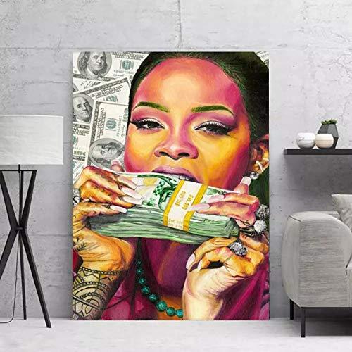 WYHAW Pintura de decoración Mural Cuadro sobre Lienzo para Pared, póster, Impresiones, Cajas de Dinero Coloridas abstractas, Pinturas en Lienzo, Carteles, decoración de Imagen 60x80cm