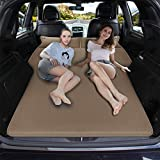 Car Bed Back Seat Inflatable Air Mattress SUV, Thickened Car Bed Inflatable Home Air Mattress Portable Camping Outdoor Mattress, Suede Surface,Fast Automatic Inflation,Sleeping Pad