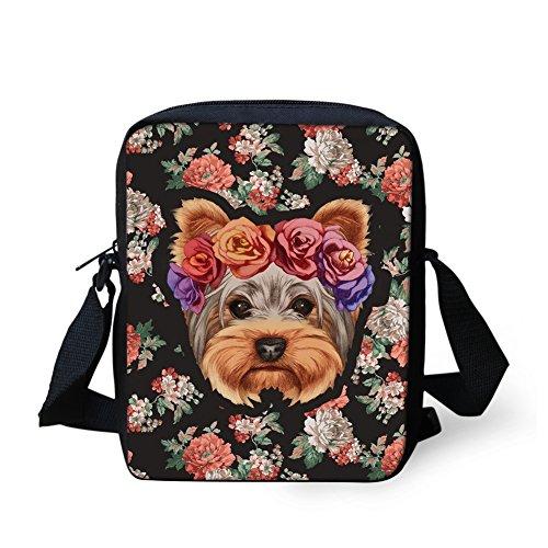 HUGS IDEA Animal imprimió la bolsa del teléfono móvil del bolso del hombro del viaje de los bolsos