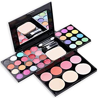 39 Color Makeup Kit Pigment Powder Eyeshadow Palette Lip Gloss Set Blush peach dressing powder Long-lasting With Brush Mir...