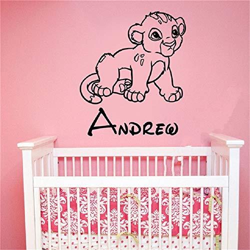 Cool Lion King Simba Bébé Nom Personnalisé Autocollant Enfants Garçons Chambre Art Décor Chambre Décor À La Maison Affiche