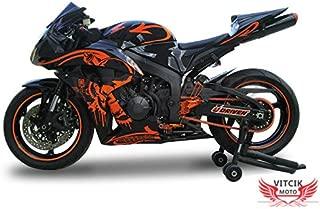 VITCIK (Fairing Kits Fit for Honda CBR600RR F5 2007 2008 CBR 600RR F5 07 08) Plastic ABS Injection Mold Complete Motorcycle Body Aftermarket Bodywork Frame (Black & Orange) A056