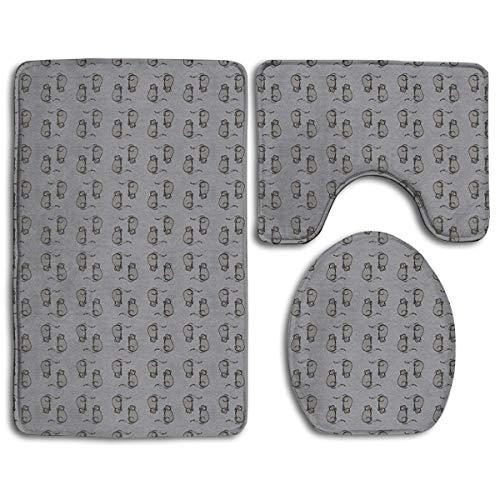 DAWN&ROSE badkamertapijt - toiletbril en tapijt - antislip-muizen! Grijze badmat badkamer keuken tapijt deurmatten