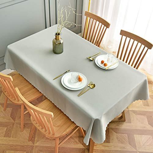 Liujiu - Mantel de mesa semirectangular antimanchas, mantel de cocina de comedor, 180 cm