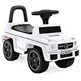 Best Choice Products Kids Mercedes G63 Foot-to-Floor Ride-On Push Car w/ Horn, White