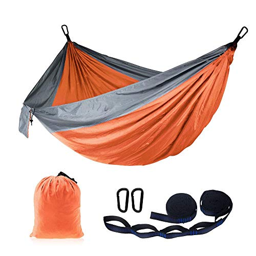 Hammock Supply High Production Amazon Easy Portable Camping Hammock With Adjustable Hanging Straps Orangegray