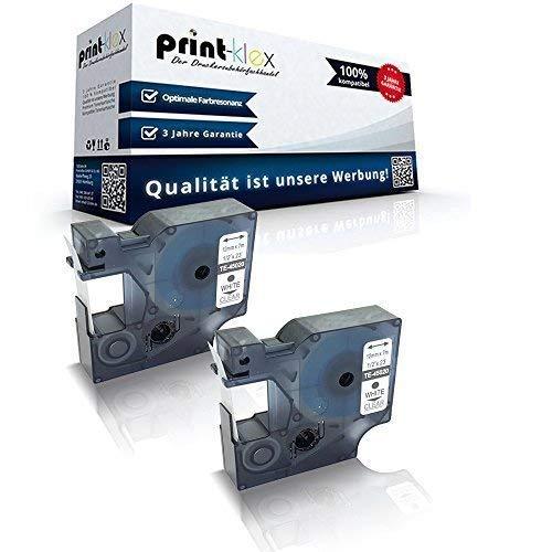 2x Kompatible Schriftbänder für Dymo D1 45020 1000 1000 Plus 2000 3500 5500 Labelmaker 4500 Pocket Labelmanager 100 Labelmanager 100 Plus S0720600 12 mmx7 m Weiss/Klar - Office Plus Serie