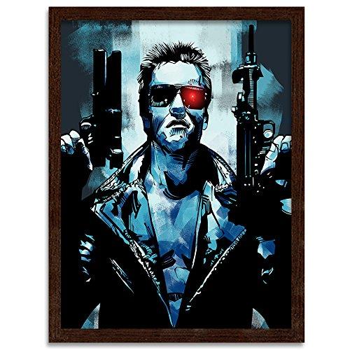 Feeby. Cuadro en Marco, Cuadro Decorativo, Cuadro de Pared, 1 Parte - 40x50 cm, Terminator 3 - Nikita Abakumov, PELÍCULA, Azul