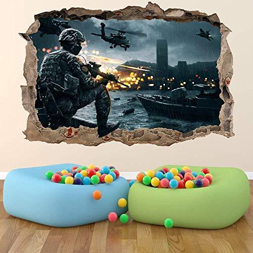 BAOWANG Wandsticker Battlefield Wall Art Sticker Breakout Abnehmbare Fototapete Leicht anzubringen - X-Large - 100cm x 70cm