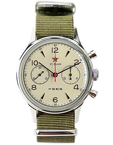 Acrílico 'hecho en China' esfera limitada gaviota ST1901 movimiento hombres cronógrafo reloj 1963