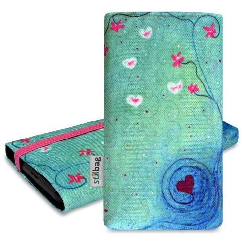 stilbag Tasche 'MIKA' für Nokia Lumia 735 - Design: Heart in Flower