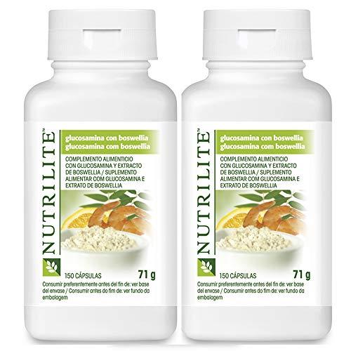 Pack 2 Glucosamina con Boswellia NUTRILITE 150 cápsulasx2 concentrado de Acerola de NUTRILITE y concentrado de bioflavonoides cítricos.