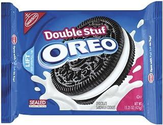 ナビスコ オレオ ダブルスタッフ Oreo Double Stuff Chocolate Sandwich Cookie, 15.35-Ounce (Pack of 4) 海外直送