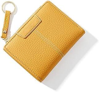GUMAOPAJIAAAqb Monederos de Mujer, Yellow Women Wallet Soft PU Leather Female Purse Mini Hasp Card Holder Coin Short Walle...