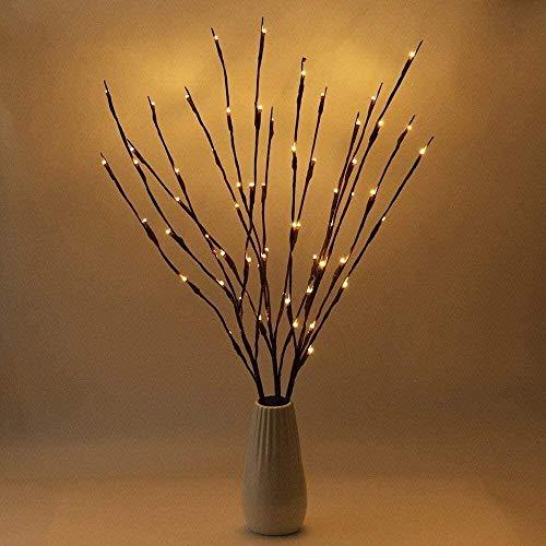 LED Lampe Zweig, Winnes 20 LEDs Lichter Zweige Warmweiß Dekozweige LED Lampe Batteriebetrieben Dekorative Lichter Für Home Room Decor (2 Stück,Warmweiß)