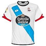 Lotto 2ª Equipación La Coruña 2016 - Camiseta para hombre, color blanco / azul / negro, talla L
